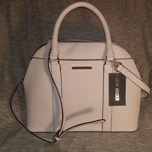 Steve Madden Large Ivory Satchel/Hand/Shoulder Bag